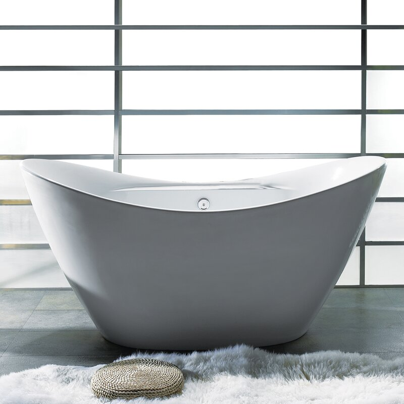 "akdy 67"" x 30"" soaking bathtub & reviews 