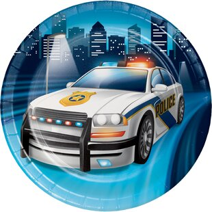 Police Party Appetizer Plate (Set of 24)