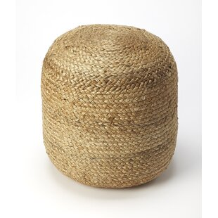 Peach Pouf by Highland Dunes