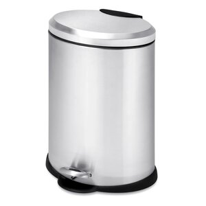 Stainless Steel 3.17 Gallon Step On Trash Can