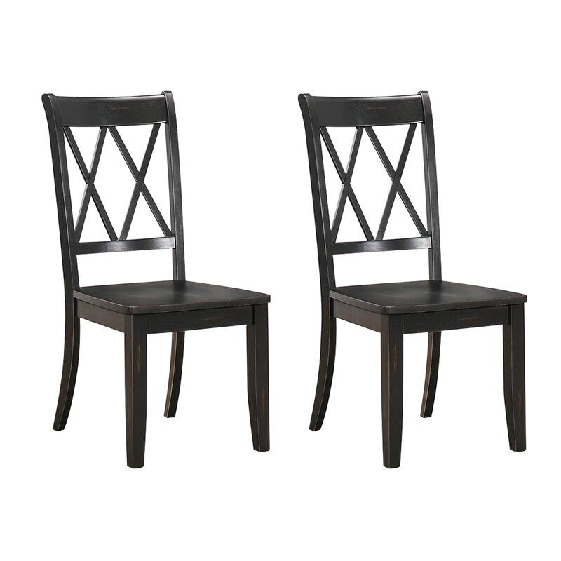 Laurel Foundry Modern Farmhouse Cheryll Solid Wood Cross Back Side Chair (Set of 2)