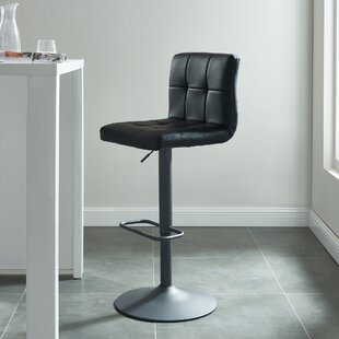 Jakobe Adjustable Height Swivel Bar Stool (Set of 2)