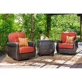 Breckenridge 3 Piece Rattan Outdoor Patio with Sunbrella Cushions by La-Z-Boy