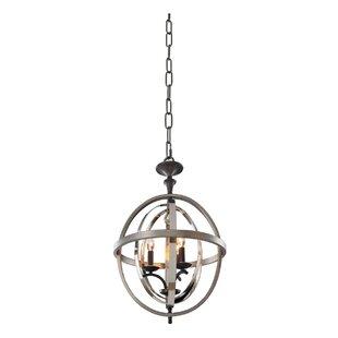 Kalco Rothwell 3-Light Globe Chandelier