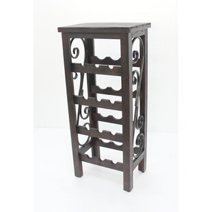 Goldston 4 Layers Wooden 12 Bottle Floor Wine Rack by Fleur De Lis Living