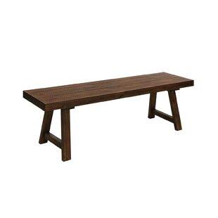 Restivo Rustic Wood Bench by Loon Peak