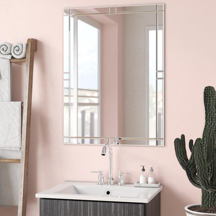 Ivy Bronx Frameless Wall Mirror Reviews Wayfair