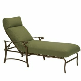 Tropitone Montreux II Reclining Chaise Lounge with Cushion