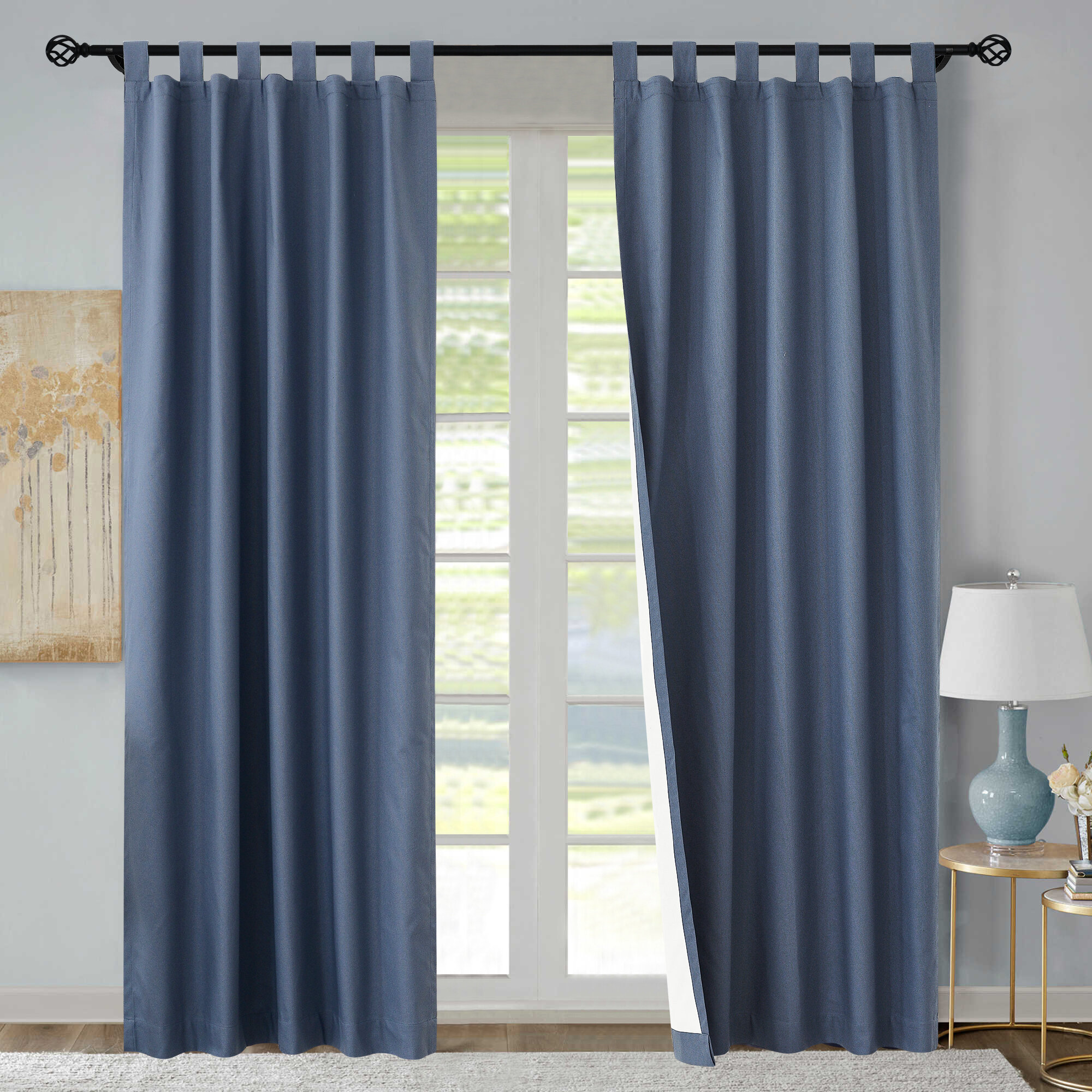Blue Yellow Gold Curtains Drapes You Ll Love In 2021 Wayfair