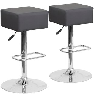 Norcross Adjustable Height Swivel Bar Stool (Set of 2) by Orren Ellis