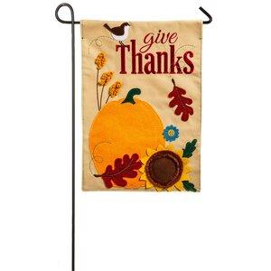 Give Thanks Garden Flag