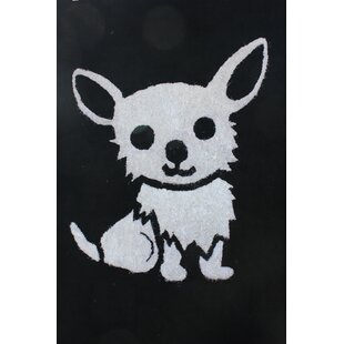 Where buy  Hawkesbury Dog Hand-Tufted Black/White Area Rug By Zoomie Kids