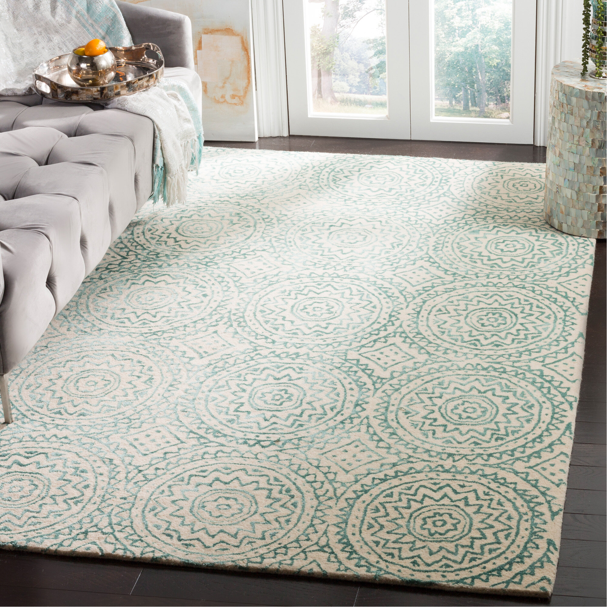 Winston Porter Mccullough Hand Tufted Wool Sage Green Beige Area Rug Reviews Wayfair