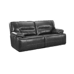 Power Recline Leather Reclining Sofa b..
