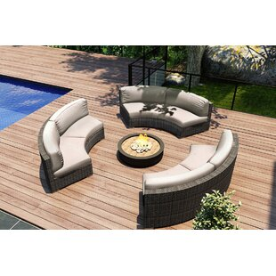 Hobbs 3 Piece Sunbrella Sectional Set with Cushions by Rosecliff Heights
