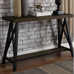 Temperley X-Shape Support Console Table by Gracie Oaks