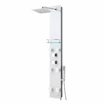 Akuaplus Nora 59 Shower Panel With Adjustable Shower Head Wayfair Ca
