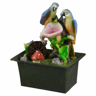 Saffold Battery Blue Parrot Ceramic Fountain Image