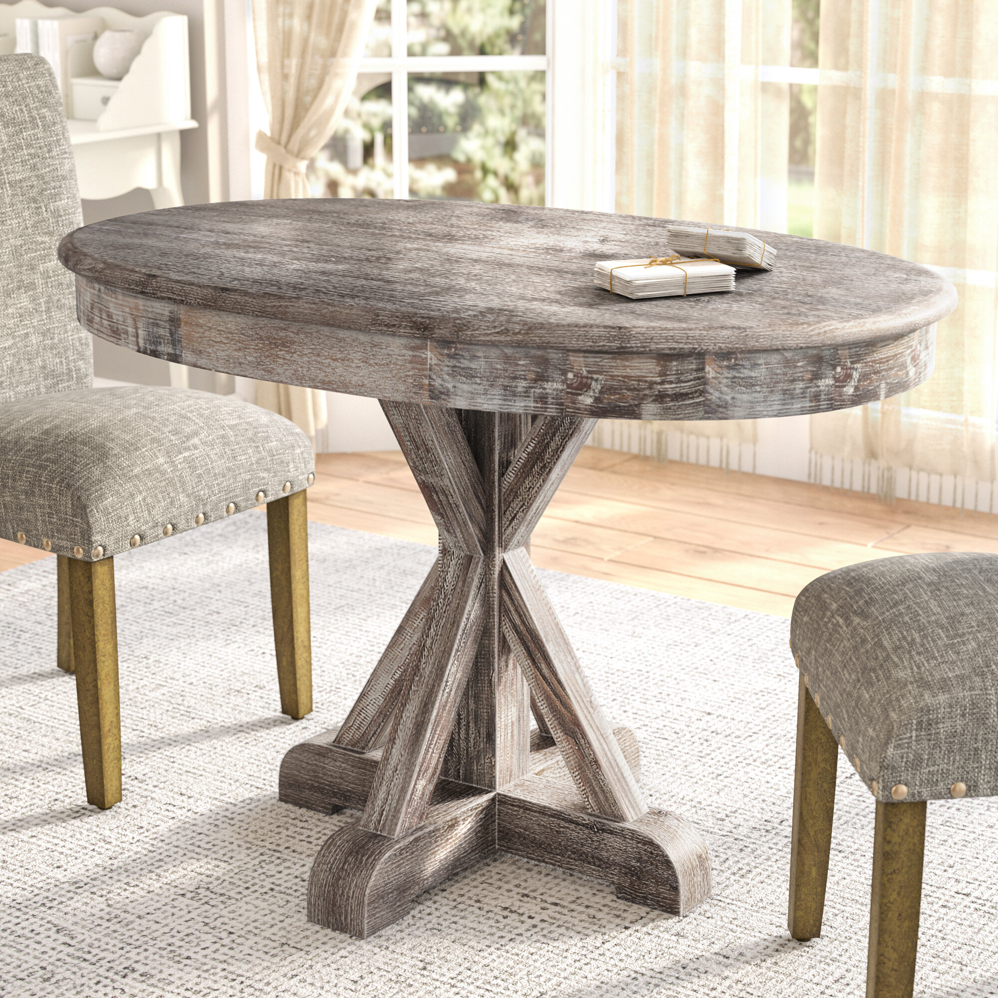 custom oak tables dining room driftwood high oval by round made furniture table end color shop gray to