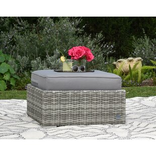 Vallauris Ottoman with Cushion by Elle Decor