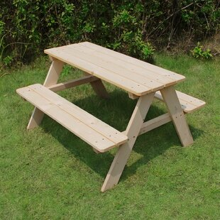 Kid's Wood Picnic Table By Atlantic Outdoor