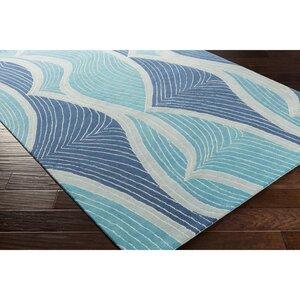 Cleo Hand-Tufted Blue Area Rug