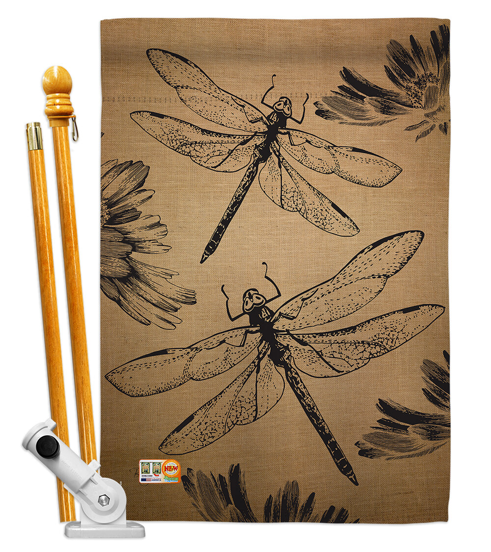 Breeze Decor Dragonfly 2 Sided Polyester 40 X 28 In Flag Set Wayfair