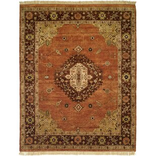 Hay Hand-Knotted Brown/Orange Area Rug byWildon Home ?