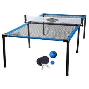 Foldable Indoor/Outdoor Table Tennis Table with Paddles and Balls by Franklin Sports