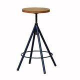 Romero Swivel Solid Wood Adjustable Height Bar Stool by sohoConcept