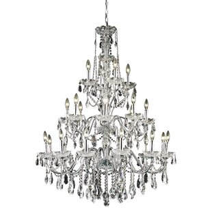 Rosdorf Park Thao 24-Light Chain Candle Style Chandelier
