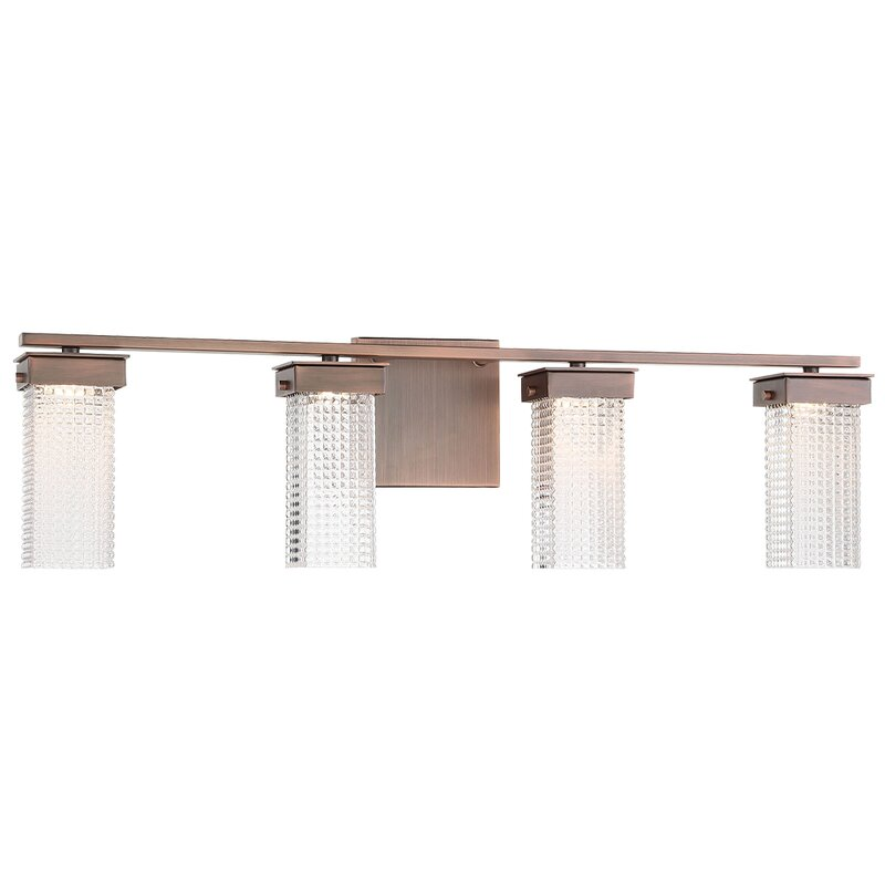 Rosdorf Park Sidra 4 Light Dimmable Led Dark Brushed Bronze Vanity Light Wayfair