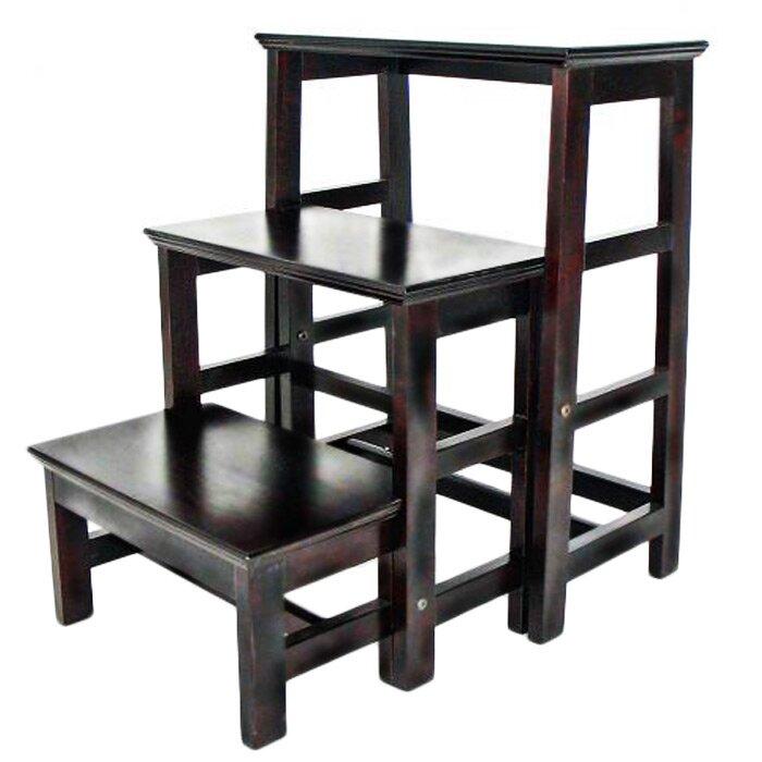 3-Step Wood Retractable Step Stool with 200 lb. Load Capacity  sc 1 st  Wayfair & Wayborn 3-Step Wood Retractable Step Stool with 200 lb. Load ... islam-shia.org