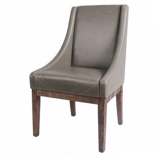 Charee Bonded Leather Side Chair Gracie Oaks