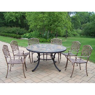 Oakland Living Stone Art 7 Piece Dining Set