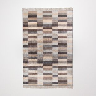 Potawatomi Brown Rug by Charlton Home