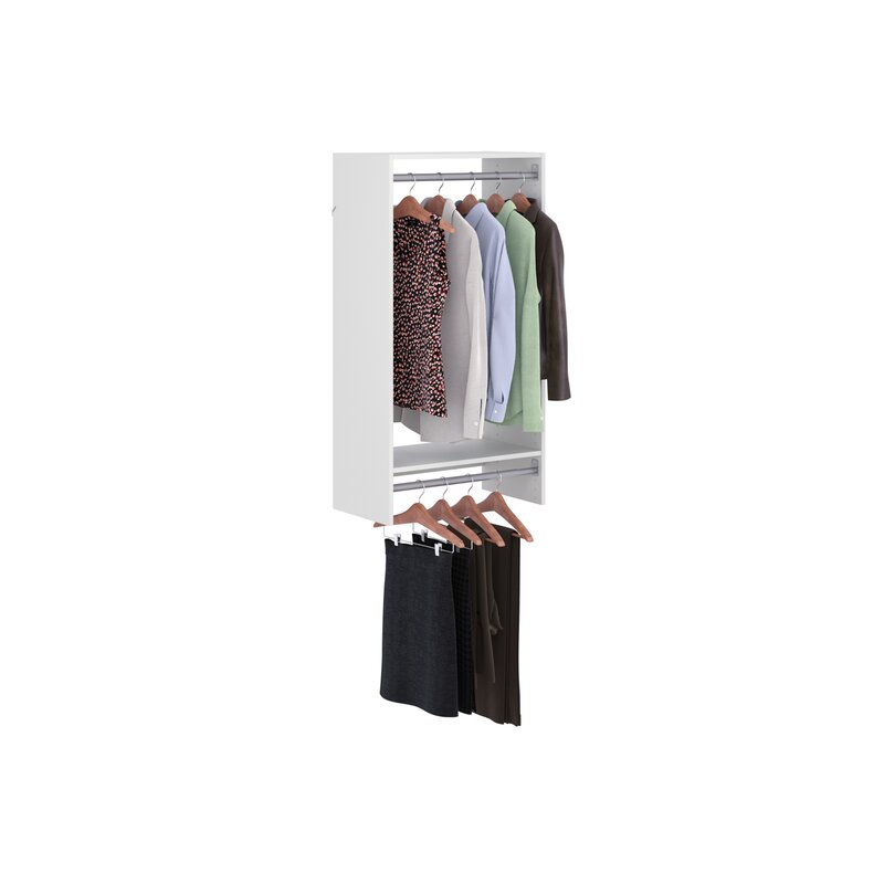 25 13 W Double Hang Closet Kit