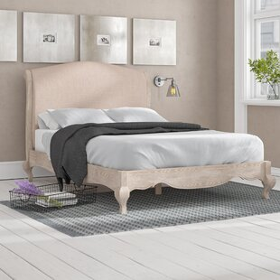 Elena Upholstered Bed Frame By Lily Manor