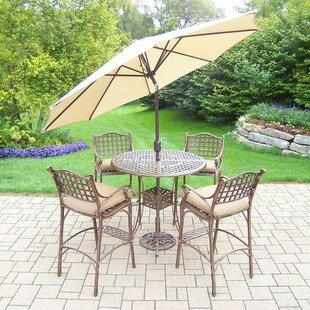 Thelma 5 Piece Bar Height Dining Set with Cushions