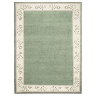 Yards Hand Knotted Wool Mint Green Rug by Red Barrel Studio