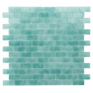 Quartz 0 75 X 1 63 Gl Mosaic Tile In Aqua Green