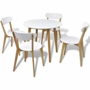 Jarboe Dining Set With 4 Chairs By George Oliver