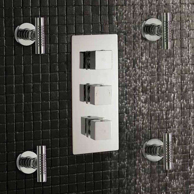 Hudson Reed Kubix Triple Concealed Shower Valve & Reviews | Wayfair ...