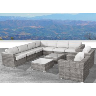 Vardin 11 Piece Sectional Set With Cushions by Rosecliff Heights