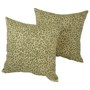 Victoria Leopard Square Outdoor Throw Pillow (Set of 2)