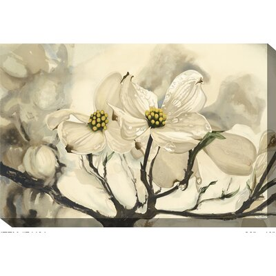 West of the Wind Outdoor Canvas Art Dogwood Framed Painting Print on Wrapped Canvas