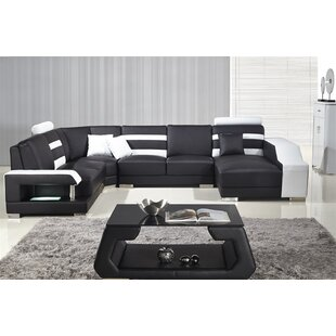 Terese Leather Modular Sectional