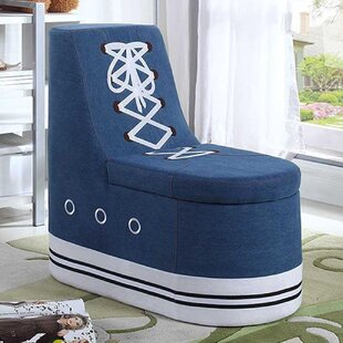 Zoomie Kids Arturo Sneaker Shoe Upholstered Storage Bench