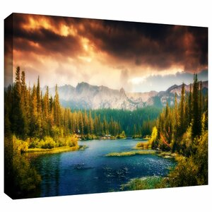 Mountain View' Photographic Print on Wrapped Canvas