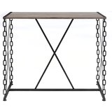 Antique And Simple Design Bar Table With Chains Kitchen Pub Dining Coffee Table High Writing Computer Table by Williston Forge